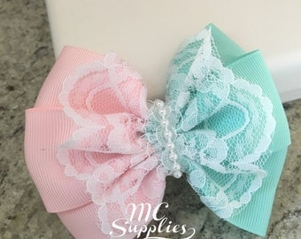 Bow applique,headband bow,baby headband bow,baby bow,fabric bow,flower girl bow,boutique bows,lace bow,baby hat bow,fabric bow applique,59