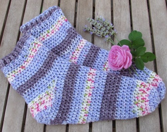 Quick & Easy Toe Up Sock Crochet Pattern