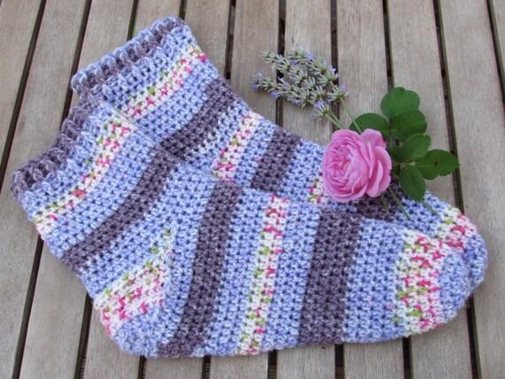 Crochet Socks Patterns Toe Up : Quick & Easy Toe Up Sock Crochet Pattern