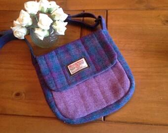 Tartan Tweed Satchel Bags   Harris Tweed