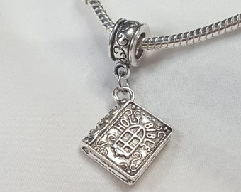 Holy Bible Dangle Charm Spacer  - Pretty Charm - Fits all Designer and European charm bracelet
