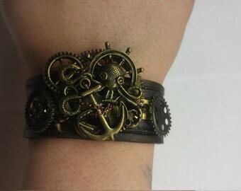 Steampunk Octopus Bracelet