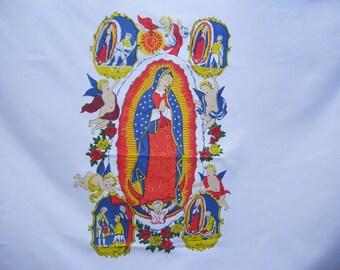 Large Madonna Angel Cherub Flag White