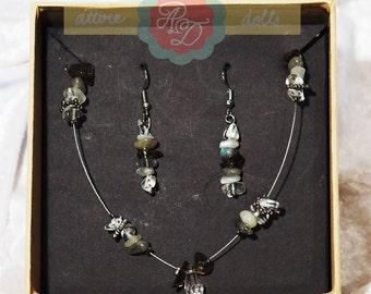 Jewellery set 'Grey monochrome'