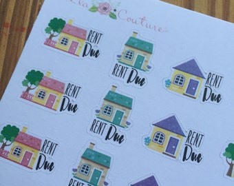 Rent Due Planner Stickers by Ella Couture by Jessica