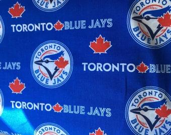 31 inch remnant Toronto Blue Jays Fabric