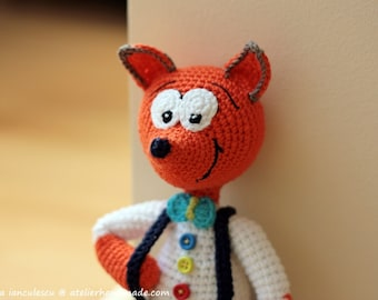 Amigurumi Crochet Fox Pattern Lisa the Fox Softie Plush