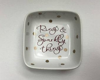 Rings & Sparkly Things Polka Dot Ring Dish