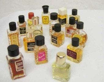 Lot vintage miniature perfume