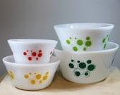 Rare Federal Atomic Dots Bowl Set