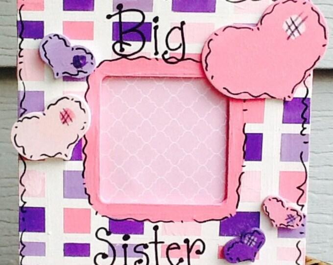 Sister frame, sibling frame, family frame, brother frame, mother frame, grandmother frame, newborn frame, new baby frame, ultrasound frame