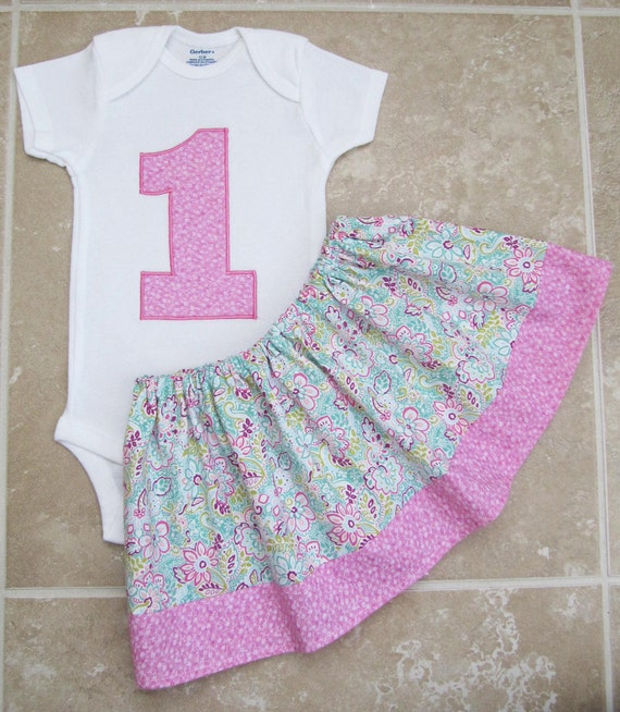 Shabby chic first birthday outfit in pink and by noellebydesign - Shabby chic outfit ideas ...