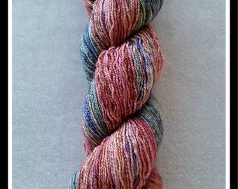 Sock Blocks - 75% SW Merino 20 Nylon 5 Silver Stellina Sparkle Sock Blank