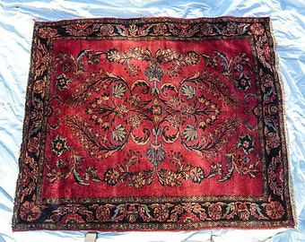 Antique Persian Rug With Royal