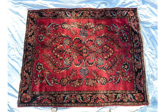"SALE! Antique Persian Rug With Royal Blue and Red ""Lilihan"""