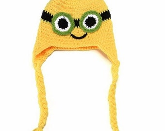 Minion Crochet Kids Hat