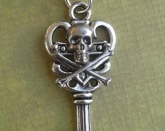 Skull & Crossbones Key necklace