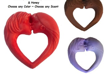 Lesbian Lovers Heart Soap  100% NATURAL!  Decorative, Homemade Choice Scents Color & Type