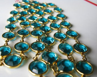 "Swarovski Large Crystal Gold Plate 35"" Necklace"