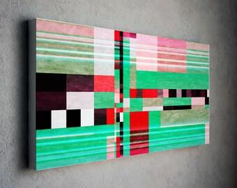 Abstract Giclee, Canvas Art, Print, Fine Art Abstract, Contemporary Art, Print green red, Wall Art, Home Decor Print