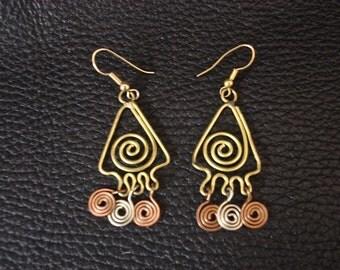 Wire copper Earrings