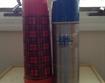 Set of 2 Vintage thermos bottles