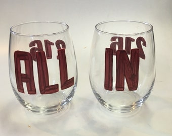 cleveland cavs ALL IN wine glass set