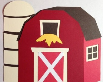 Barn Scene with Silo Die Cut