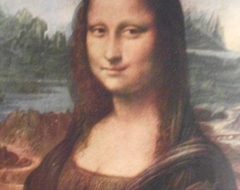 Vintage Mona Lisa Print.