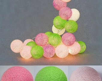 Lovely Tone Cotton Ball String Lights Fairy lights Party Decor Wedding