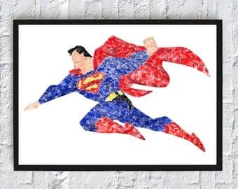 Superman Watercolour - Framed