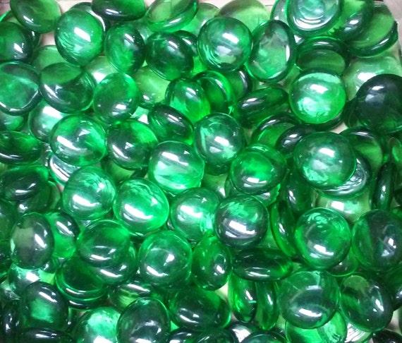 Creative stuff glass green irid gems stones