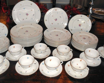 Antique Set Of PICKARD Floral Chintz China / Retired /80 Yrs Old / 60 Pieces ..