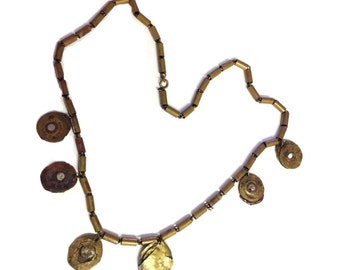 Crushed Bullet Handmade Artisinal Necklace - One of a kind