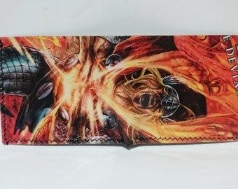 thor - recycled comic book wallet - slim wallet - hanmade wallet - card holder - thin wallet - vinyl wallet - men's wallet