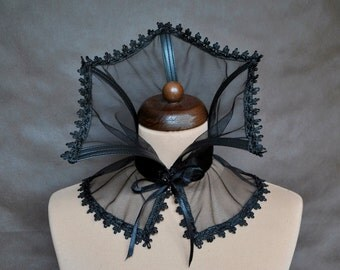 Elegant GOTHIC CHOKER GORGET mist vampire costume Glamour, collar black,  beautiful adornment, Halloween, witch, prom