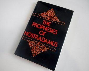 Vintage The Prophesies of Nostradamus book - hardcover - 1980 - prophecies, predictions, world events, religion,mysticism, spirituality