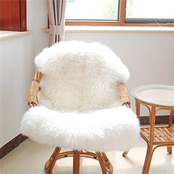 0n sale ikea rens sheepskin rug drape 100 real by for Faux fur area rug ikea