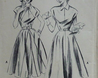 Vintage sewing Pattern. Butterick 6099, dress pattern. FF unused