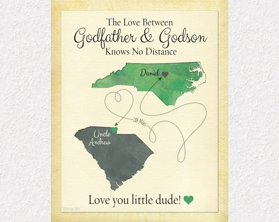 Godmother Gift Goddaughter Gift Long Distance Gift: Long Distance Godfather Gift Long Distance Godson Gift