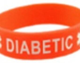 Diabetic  Silicone Medical Bracelet