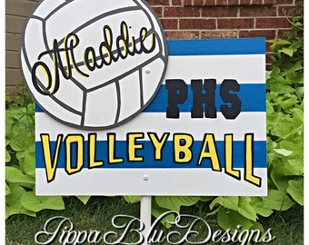 Volleyball Sign, Volleyball Yard Sign, Personalized Volleyball Sign, Volleyball Door Hanger, School Sport Sign, Team Sign