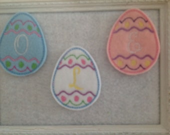 Easter Egg  Custom Initial Feltie Three colors to Select Always Precut