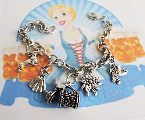 Oktoberfest Bracelet, German Charm Bracelet