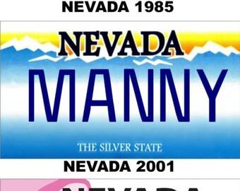 Personalized Nevada Refrigerator Magnet State License Plate Replica