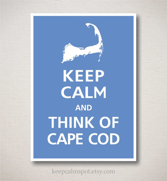 THINK Of CAPE COD Print Typography Art