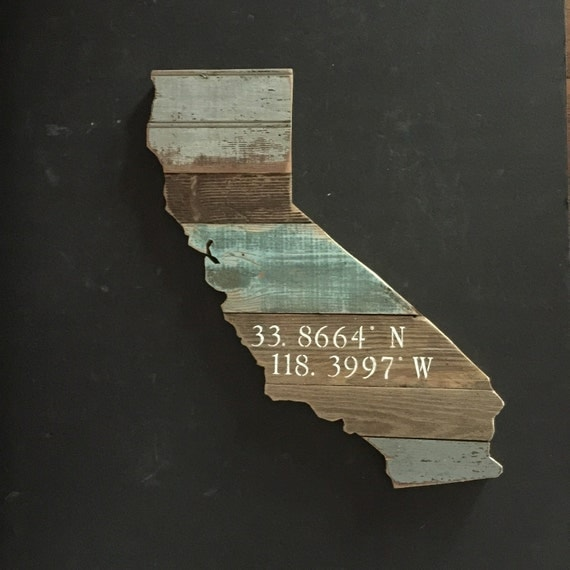Reclaimed Flooring California: CaliforniaAntique Wood State Sign By MoonshineAndMimosas
