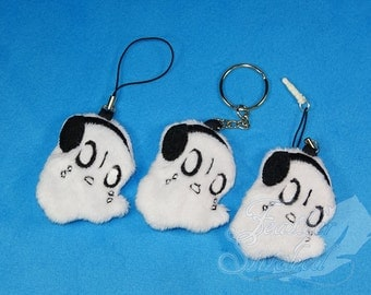 LIMITED STOCK- Napstablook Keychain Soft Charm and Screen Cleaner- Undertale