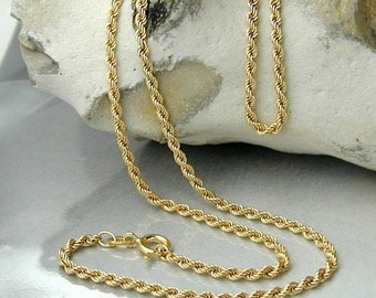 Delicate rope chain, 9K GOLD