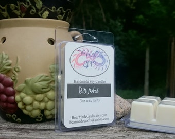 Butt Naked Soy Wax melts 3oz clamshell.  100% Soy Wax